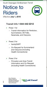 New Transit Info July 2018